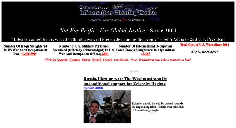Great Access Informationclearinghouse.info. INFORMATION CLEARING HOUSE. NEWS,  COMMENTARY U0026 INSIGHT