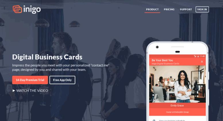 Access inigoapp inigo digital business cards free business inigo digital business cards free business card app android iphone colourmoves