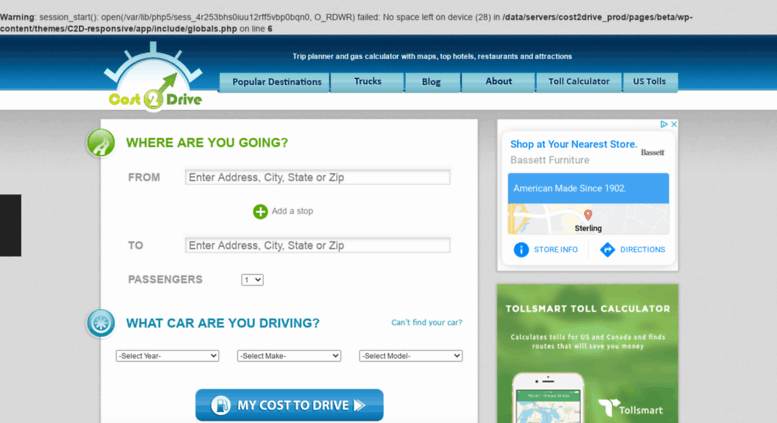 access international costtodrive com cost 2 drive trip planner