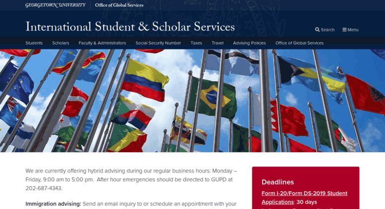 Access Internationalservices Georgetown Edu International Student