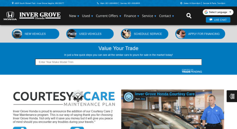 Invergrovehonda.com Screenshot