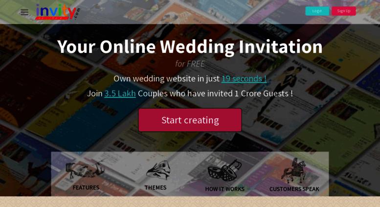 Access Invity Com Free Wedding Website Indian Marriage Invitation