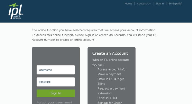 Ipl.opower.com Screenshot