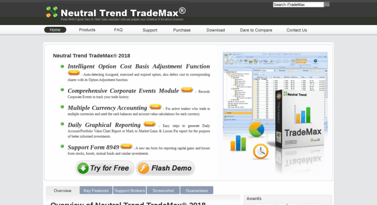 Access Itrademax Form 8949 Capital Gain Wash Sales Calculator