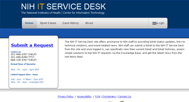 Superb Itservicedesk.nih.gov Screenshot Design Inspirations