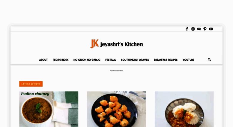 jeyashriskitchencom screenshot - Jeyashris Kitchen
