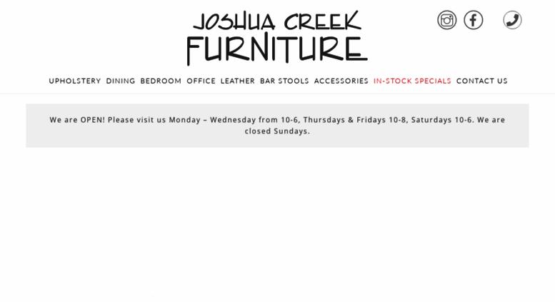 Joshua Creek Trading Furniture, Oakville, Burlington, Hamilton, Furniture  Store