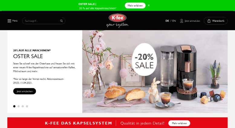 Access k-fee.com. Kapselmaschinen & Kaffeekapseln / K-fee® | {Kapselmaschinen 16}