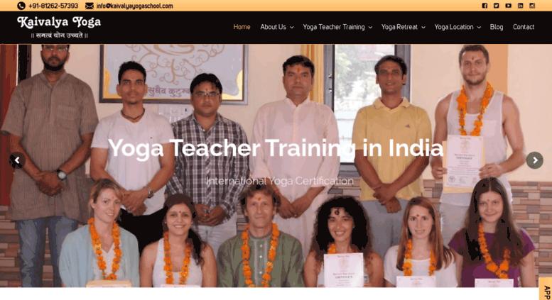 Access Kaivalyayogaschool Kaivalya Yoga School India Yoga