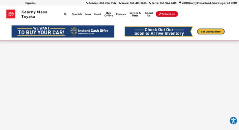 Kearny Mesa Toyota >> Access Kearnymesatoyota Com Toyota New Used Car Dealer Serving