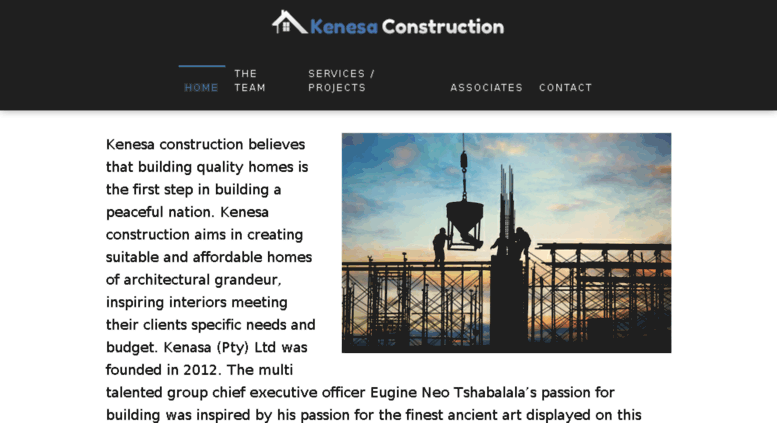Access kenesaconstruction co za  Kenasa Construction - Affordable