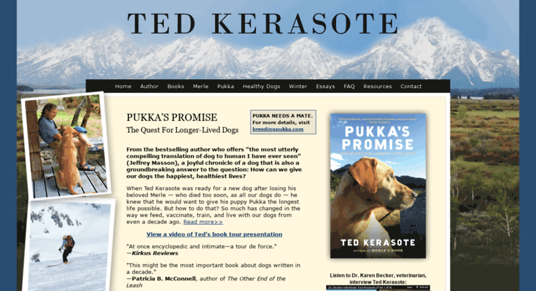Ted Kerasote Author of Merle\u0027s Door and Pukka\u0027s Promise  sc 1 st  Accessify & Access kerasote.com. Ted Kerasote Author of Merle\u0027s Door and ...