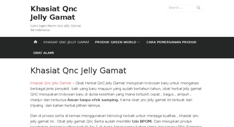 Harga dan Khasiat Qnc Jelly Gamat Original 100 %