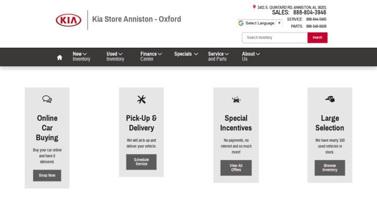 Attractive Kiastoreanniston.com Screenshot