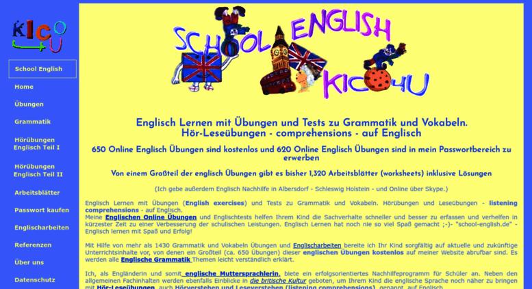 Access kico4u.de. Englisch Lernen mit Englische Grammatik Übungen ...