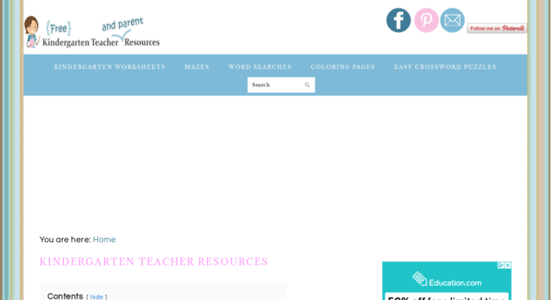 Access kindergartenteacherresources.com. Free Kindergarten ...