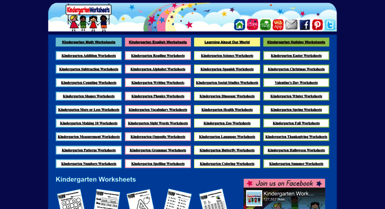 Access kindergartenworksheets.net. Kindergarten Worksheets - Free ...