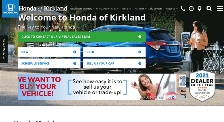Kirklandhonda.com Screenshot