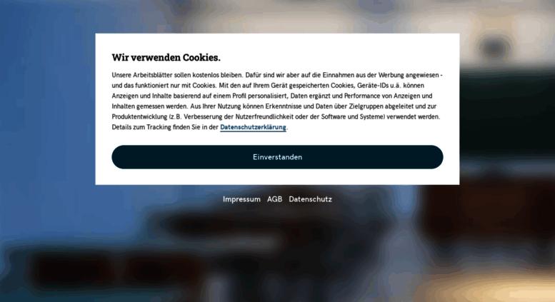 Access kleine-mathematiker.de. Die Arbeitsblätter sind zum ...