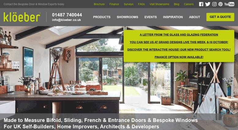 Bi fold doors Folding sliding doors Folding doors by Kloeber  sc 1 st  Accessify & Access kloeber.co.uk. Bi fold doors Folding sliding doors Folding ...