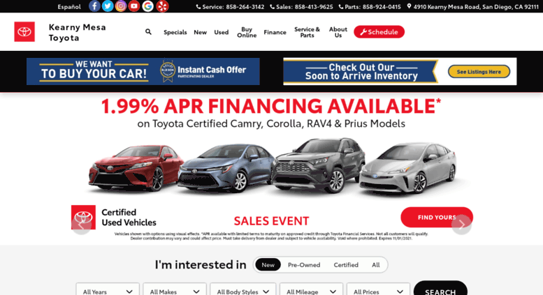 Kmtoyota.com Screenshot