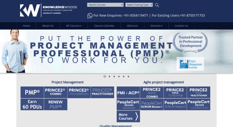 Access Knowledgewoods Project Management Certification Training