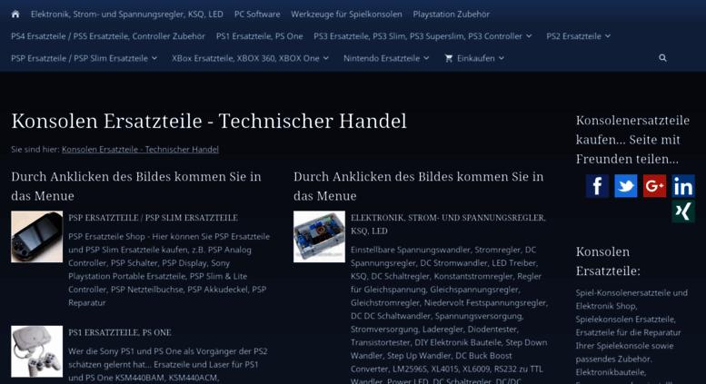 Access konsolenersatzteile.com. Konsolenersatzteile - Technischer Handel