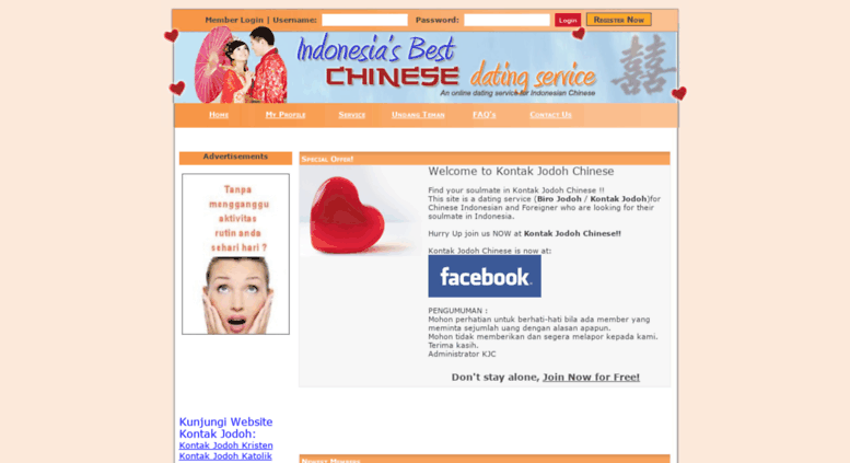Chinese indonesian dating service