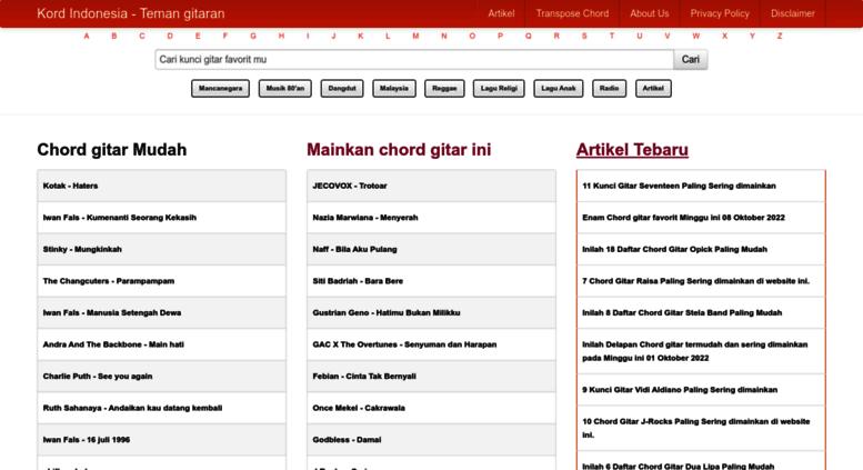 Access kordindonesia chord gitar indonesia kumpulan kunci kordindonesia screenshot reheart Image collections