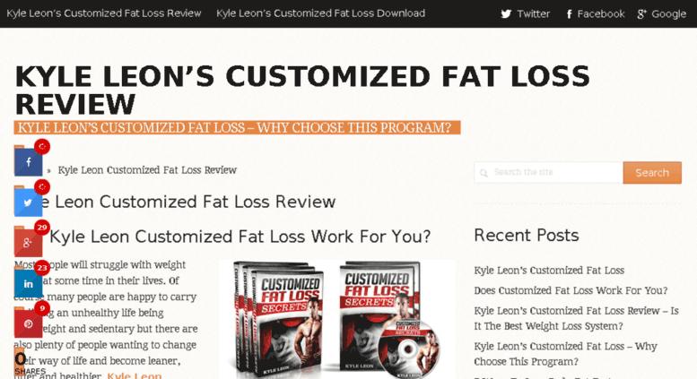 Access Kyleleoncustomizedfatloss Com Kyle Leon Customized Fat Loss