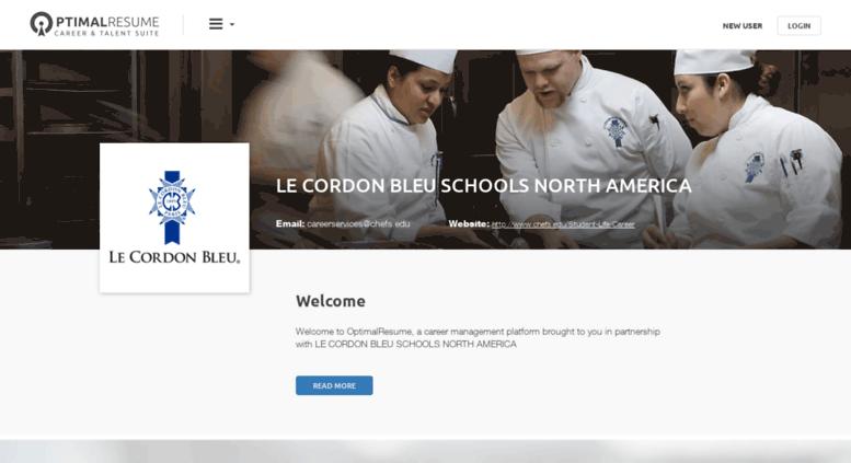 Access lecordonbleu.optimalresume.com. Optimal Resume at LE CORDON ...
