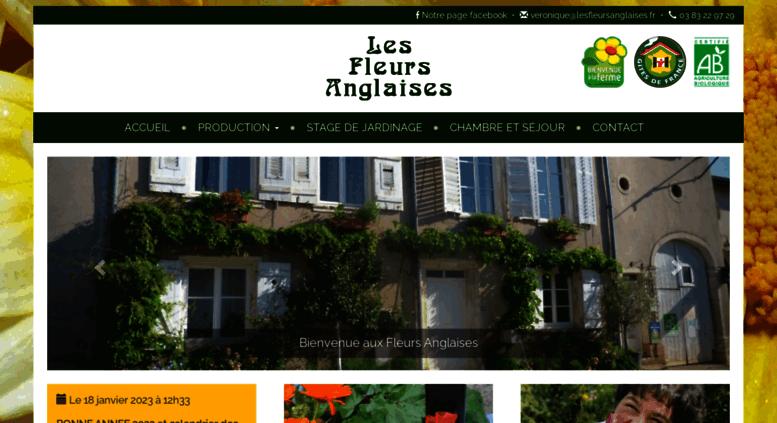 Access les fleurs anglaises for Chambre d hotes biot