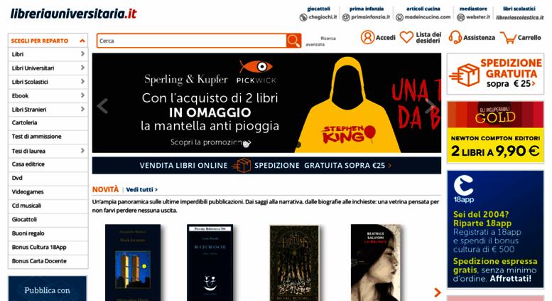 Access libreria universitaria for Librerie universitarie online