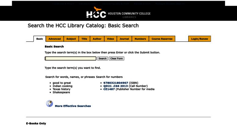 access librushccsedu hcc library catalog