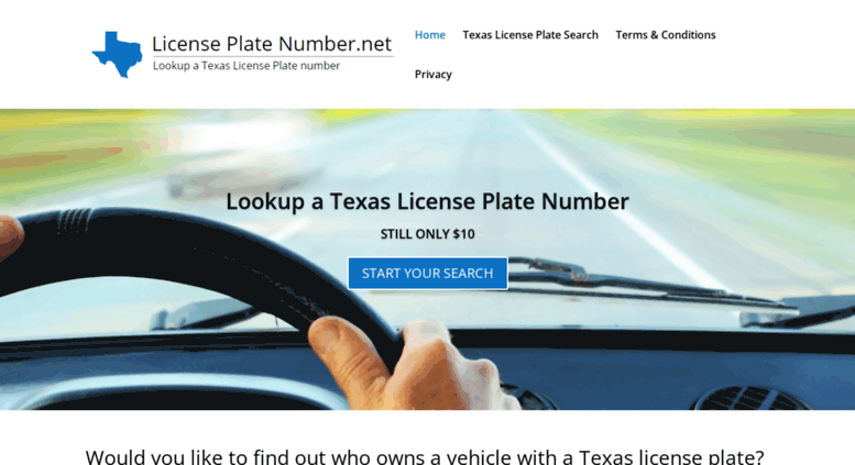 access licenseplatenumber. texas license plate search