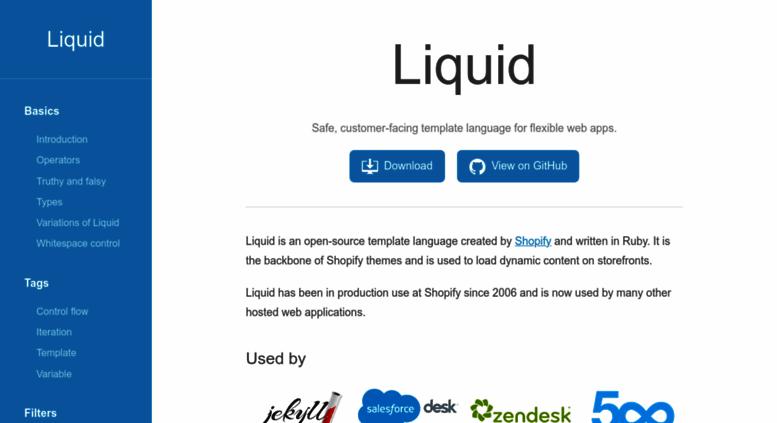 Access Liquidmarkuporg Liquid Template Language - Shopify template language