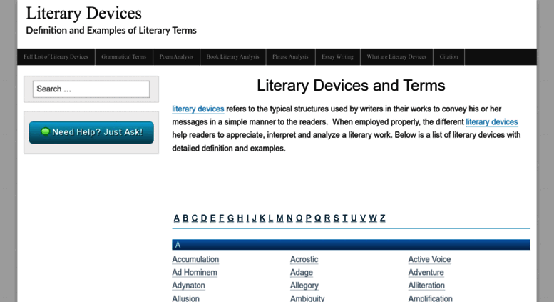 Access Literarydevices Literary Devices And Literary Terms