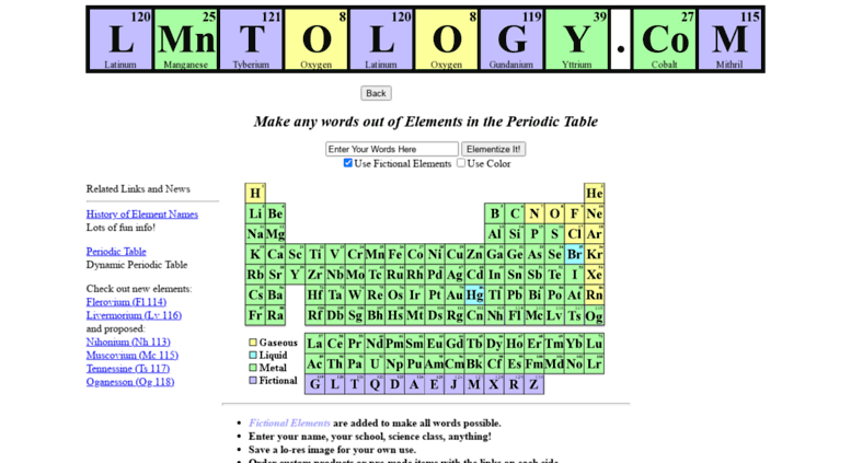 Access lmntology find your name in the periodic table of the find your name in the periodic table of the elements urtaz Gallery
