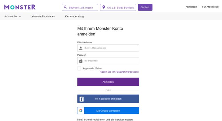 Access login.monster.de. Finden Sie Ihren Job: Durchsuchen Sie jetzt ...
