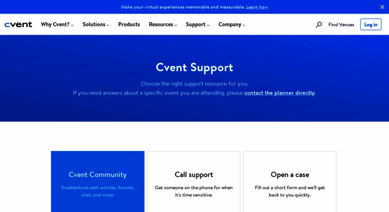access login signup4 net cvent customer support support community