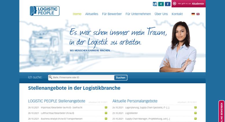 Access logistic-people.de. LOGISTIC PEOPLE - Logistik Jobs und ...