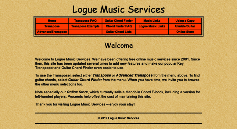 Access Logue Logue Music Services Welcome