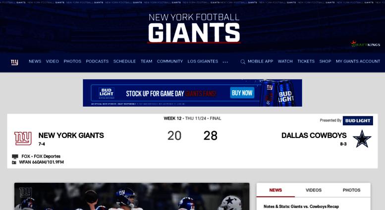 Access M Giants Com Giants Home New York Giants Giants Com