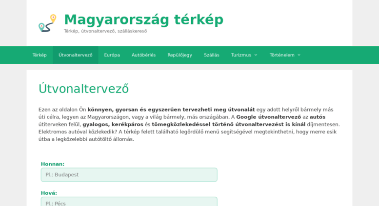 utvonalterv hu budapest térkép Access magyarorszag terkep.hu. Magyarország térkép és Google  utvonalterv hu budapest térkép