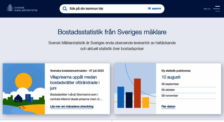 Access Maklarstatistik Se Svensk Maklarstatistik Aktuell Statistik Pa Bostadspriser I Sverige