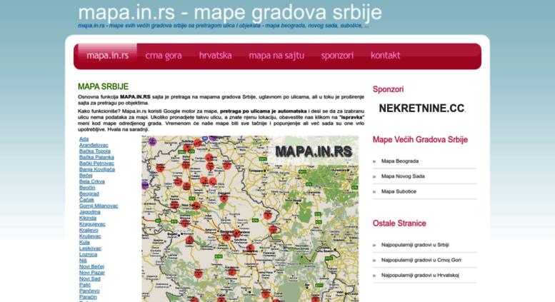 mapa srbije bela crkva Access mapa.in.rs. Mapa.in.rs   mape gradova Srbije sa pretragom ulica mapa srbije bela crkva