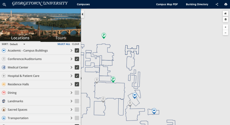 Access mapsgeorgetownedu Georgetown University Campus Map