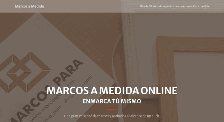 Access marcosamedida.com. Enmarcación a medida, Tienda online de ...