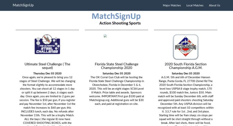 Matchsignup
