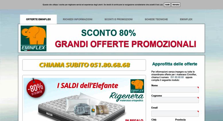 Access materasso.tv. Materassi Eminflex offerte sconti e promozioni